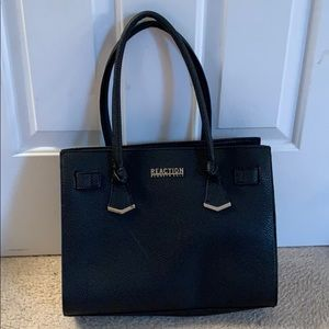 Black and Tan, faux leather Kenneth Cole purse